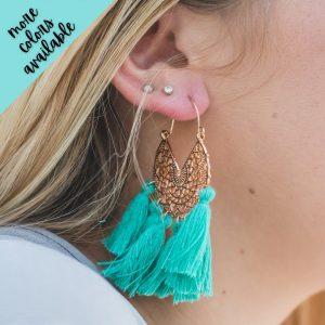Aubrey Fringe Filigree Earrings