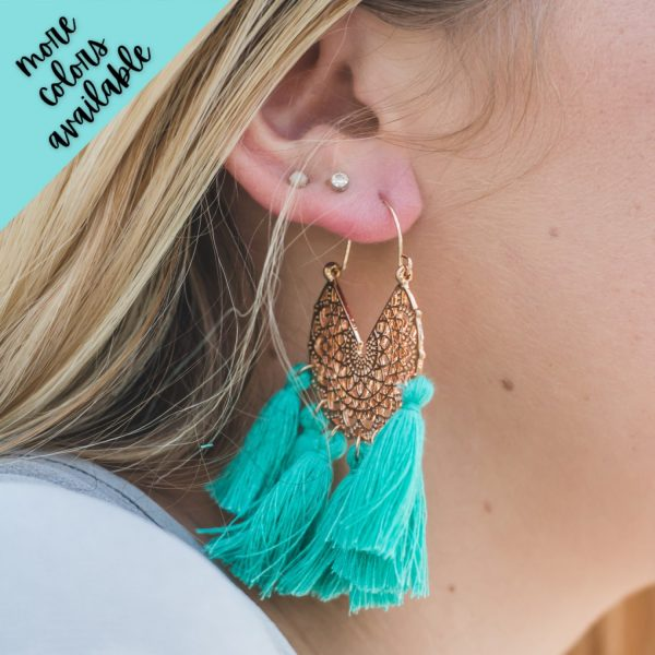Aubrey Fringe Filigree Earrings