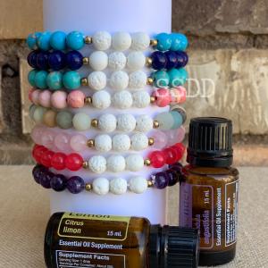 Amelia Glass Bead Essential Oil Bracelet