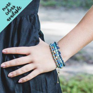 Ava Adjustable Stacked Bead Bracelet