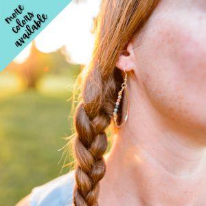 Chloe Wire Wrapped Bead Earrings