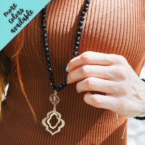 Miranda Bohemian Glass Bead Necklace