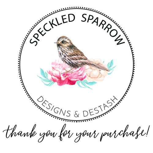 Speckled Sparrow Thank You