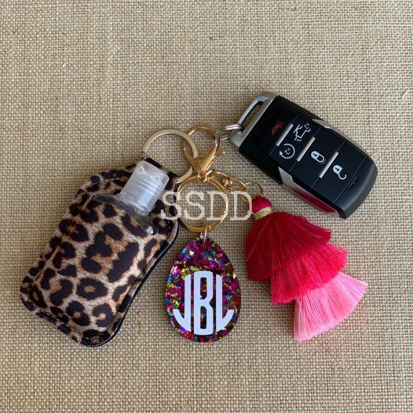 Suzy Neoprene Hand Sanitizer Keychain