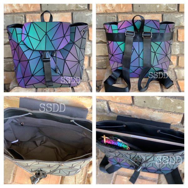 Chameleon Light Reflecting Backpack Purse