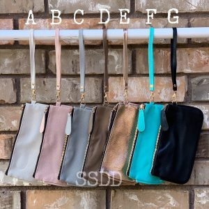 Chelsea Clutch Wristlet - Solids