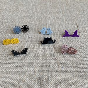 Die Cut Halloween Earrings