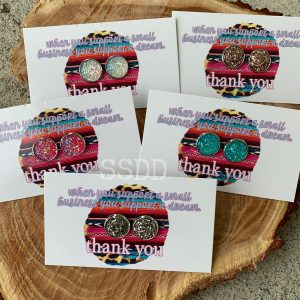 Druzy Earring Thank You Cards - Support a Dream Small Business