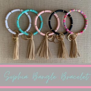 Sophia Clay Bead Bangle Bracelet