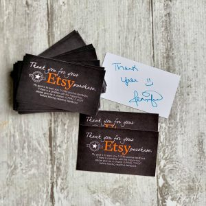 Etsy Feedback Cards