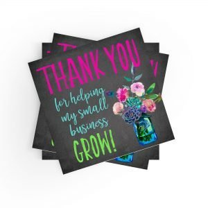 Thank You for Helping My Small Business Grow Stickers