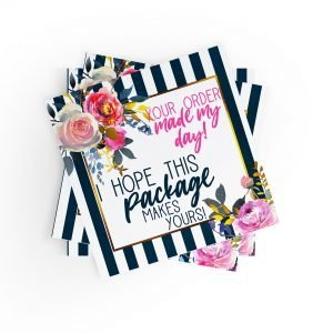 Your Order Made My Day, I Hope This Package Makes Yours Stickers {floral}