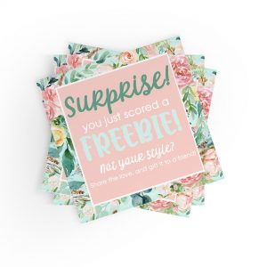 SURPRISE - You Just Scored a Freebie Stickers