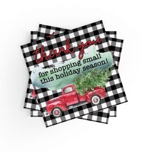 Thank You for Shopping Small Holiday Stickers