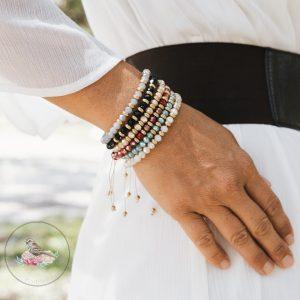 Stella Adjustable Glass Bead Bracelet