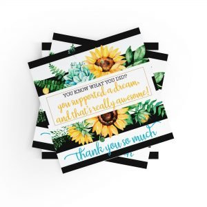 You Supported a Dream Sunflower Stickers