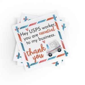 Hey USPS Worker Thank You Stickers