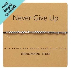 Alia Morse Code Inspiration Bracelet