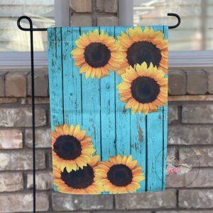 Rustic Sunflower Garden Flag