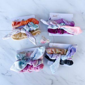 {Dozen Pack} 3 pc Tie Dye Scrunchie Set