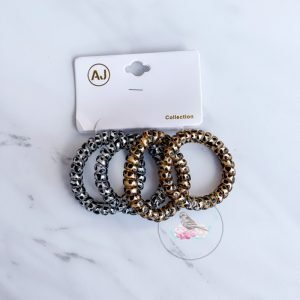 {Dozen Pack} 4 pc Leopard Print Telecord Hairties