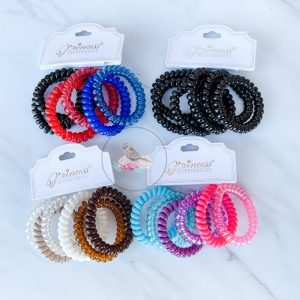 {Dozen Pack} 6 pc Telecord Hair Tie Set