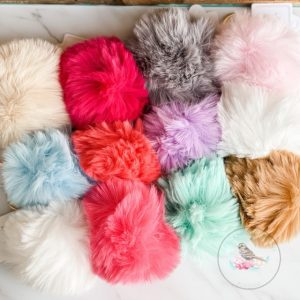 {Dozen Pack} Colorful Pom Pom Keychains