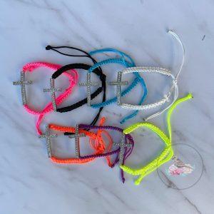 {Dozen Pack} Cross Charm Braided Bracelet
