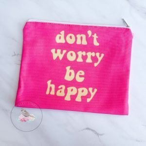 {Dozen Pack} Don't Worry Be Happy Cosmetic Pouch