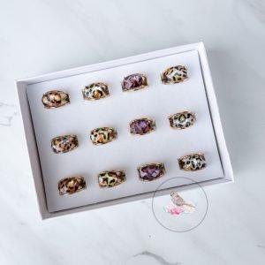 {Dozen Pack} Leopard Rings