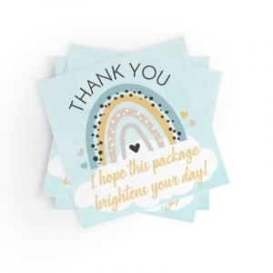 Thank You Rainbow Small Business Stickers