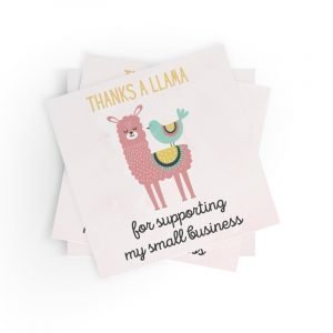 Thanks a Llama Small Business Stickers