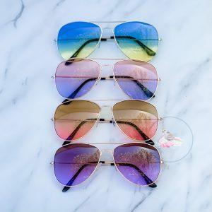 {Dozen Pack} Gradient Aviator Sunglasses