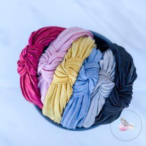 Top Knot Silk Feel Solid Headband