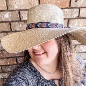 Kendra Chevron Floppy Beach Hat