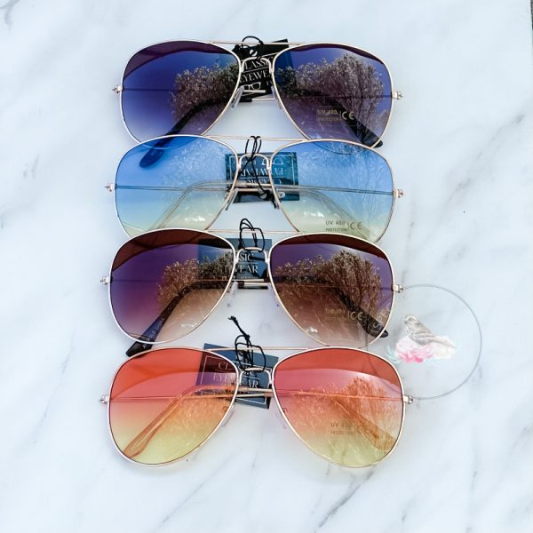 {Dozen Pack} BRGLD Gradient Aviator Sunglasses
