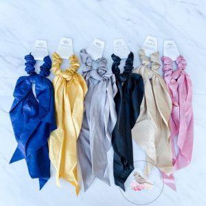 {Dozen Pack} Solid Colors Scarf Hair Scrunci