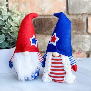 Mr & Mrs Lincoln Patriotic Gnome Set